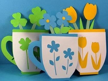 Поделки на 8 марта для детей - поделки из бумаги цветы (7)
