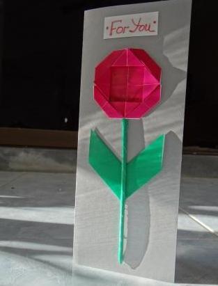 Поделки на 8 марта для детей - поделки из бумаги цветы (5)