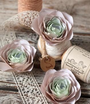 Поделки на 8 марта для детей - поделки из бумаги цветы (15)