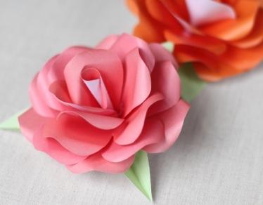 Поделки на 8 марта для детей - поделки из бумаги цветы (14)