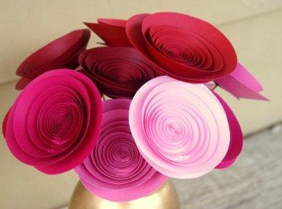 Поделки на 8 марта для детей - поделки из бумаги цветы (9)