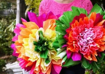 Поделки на 8 марта для детей - поделки из бумаги цветы (8)
