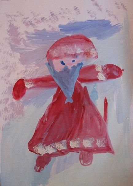 Как нарисовать Деда Мороза - Новогодние рисунки детей от 4 до 6 лет (10)