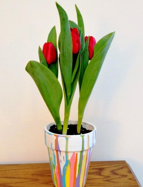 Что подарить маме на 8 марта своими руками - украшение цветочного горшка (6)
