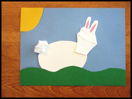 Пасхальные поделки - корзина и заяц (17)