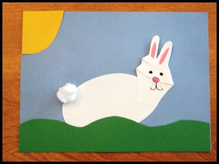 Пасхальные поделки - корзина и заяц (18)