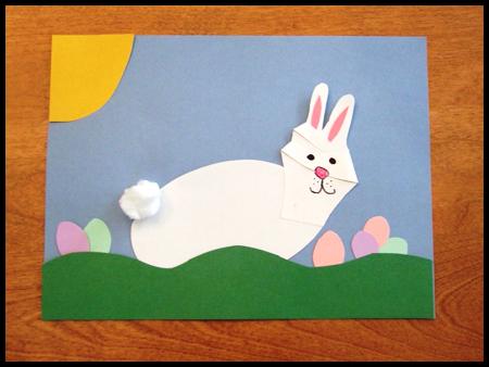 Пасхальные поделки - корзина и заяц (19)