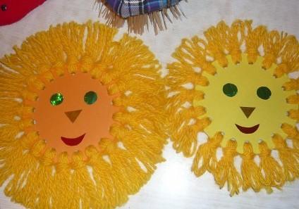 Солнышко для своими руками из бумаги фото 521