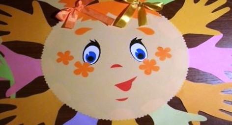 Поделка солнышко из бумаги своими руками для детского сада