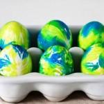 Оригинальный способ покраски яиц