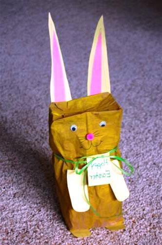 Пасхальные сувениры своими руками - яйцо и заяц (4)
