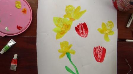 Поэтапное рисование для детей - Весенний букет (5)
