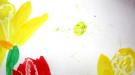 Поэтапное рисование для детей - Весенний букет (4)