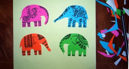 Поделка слон из бумаги (3)