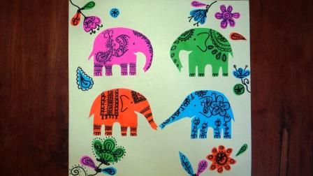 Поделка слон из бумаги (1)