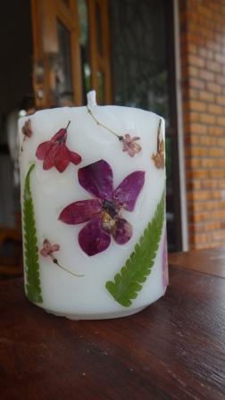 Декупаж свечей сухоцветами - МК (5)