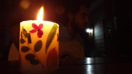 Декупаж свечей сухоцветами - МК (3)