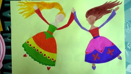 Аппликация для девочки - Принцессы балерины (6)