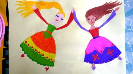 Аппликация для девочки - Принцессы балерины (5)