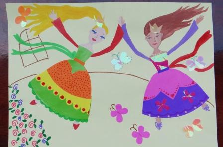 Аппликация для девочки - Принцессы балерины (3)