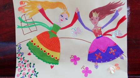 Аппликация для девочки - Принцессы балерины (1)