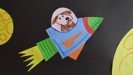 Поделка на День Космонавтики - аппликация космос (7)