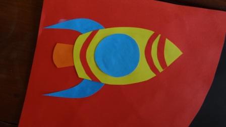 Поделка на День Космонавтики - аппликация космос (6)