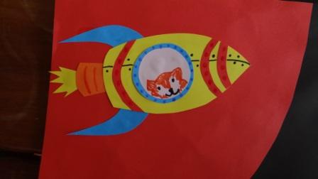 Поделка на День Космонавтики - аппликация космос (5)