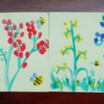 Рисование пальчиковыми красками. Цветочная поляна