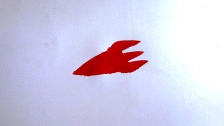 Детский рисунок космоса с помощью трафаретов (5)
