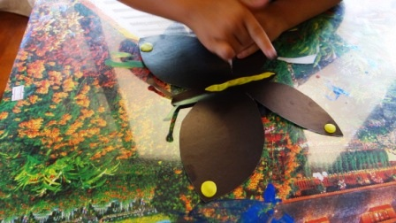 Бабочка из пластилина - необычные рисунки (7)