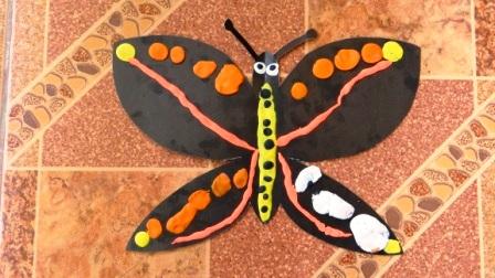 Бабочка из пластилина - необычные рисунки (3)