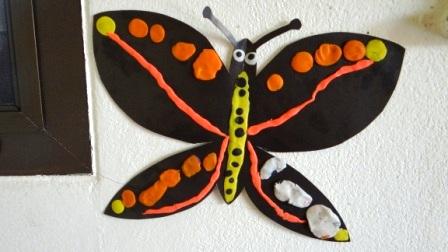 Бабочка из пластилина - необычные рисунки (1)