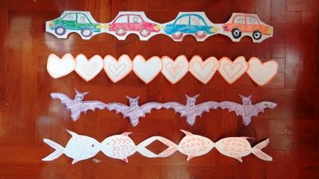 Гирлянда из бумаги: машинки, сердечки, рыбки (11)