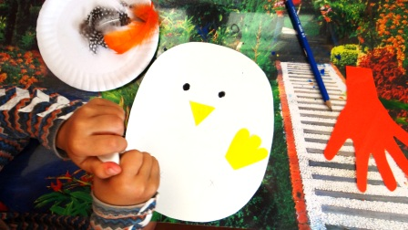 Поделка Мама курица и рождение птенца (11)