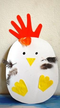 Поделка Мама курица и рождение птенца (9)