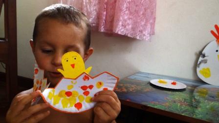 Поделка Мама курица и рождение птенца (2)