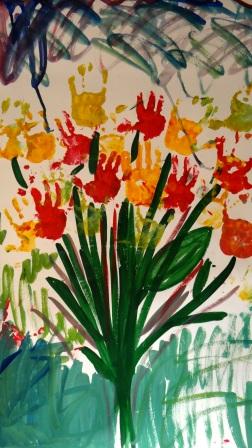 Открытки на 8 марта рисуем красками