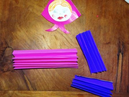 Кукла оригами из бумаги