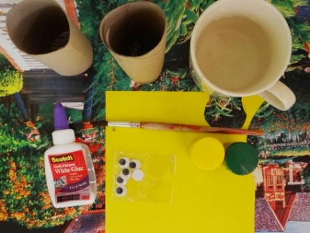 Поделки из туалетных рулонов - Пчёлка Майя (9)