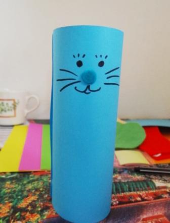 Пасхальная поделка - Кролик из бумаги (7)