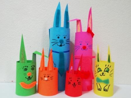 Пасхальная поделка - Кролик из бумаги (4)