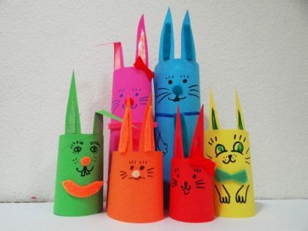 Пасхальная поделка - Кролик из бумаги (3)