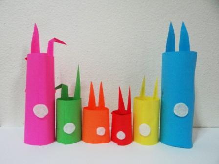 Пасхальная поделка - Кролик из бумаги (2)