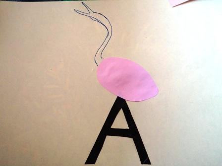 "Учим букву ""А"" - поделки (5)"