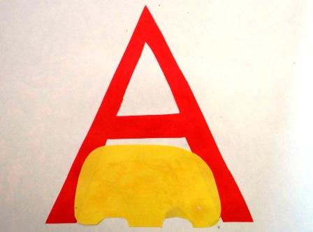 "Учим букву ""А"" - поделки (2)"