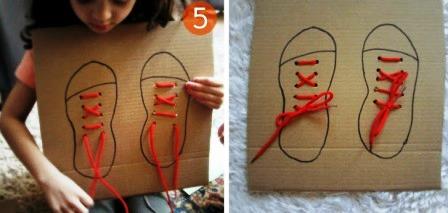 Учимся завязывать шнурки (4)
