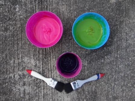 Как сделать краски для рисование на асфальте (4)