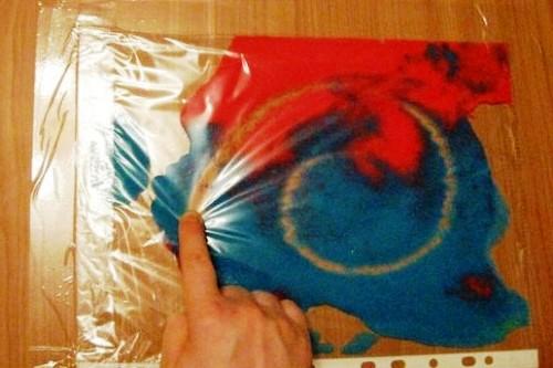 Рисование красками в пакете (1)