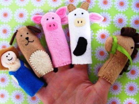 Пальчиковые куклы своими руками из ткани